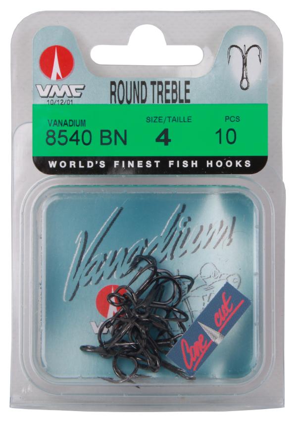 VMC 8540 Vanadium Round Treble triples, 10 pièces (choix entre 2 options)