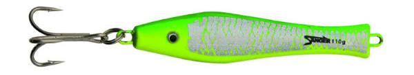 Aquantic 3D Holo Pilker 400 gr (choix entre 5 options) - Green / Yellow