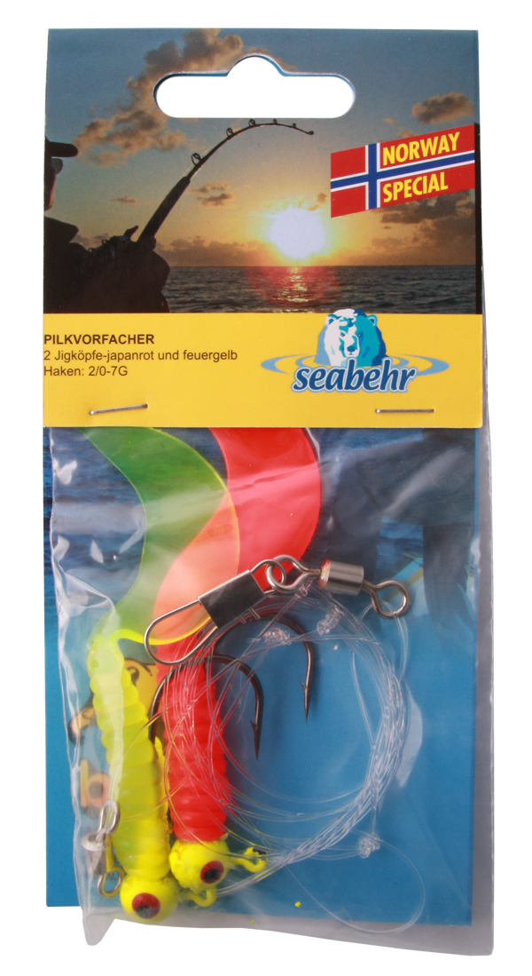 Seabehr Jighead Pilk System (choix entre 2 options) - Red/Yellow