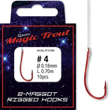 Quantum Magic Trout Maggot Rigged Hooks (choix entre 6 options)