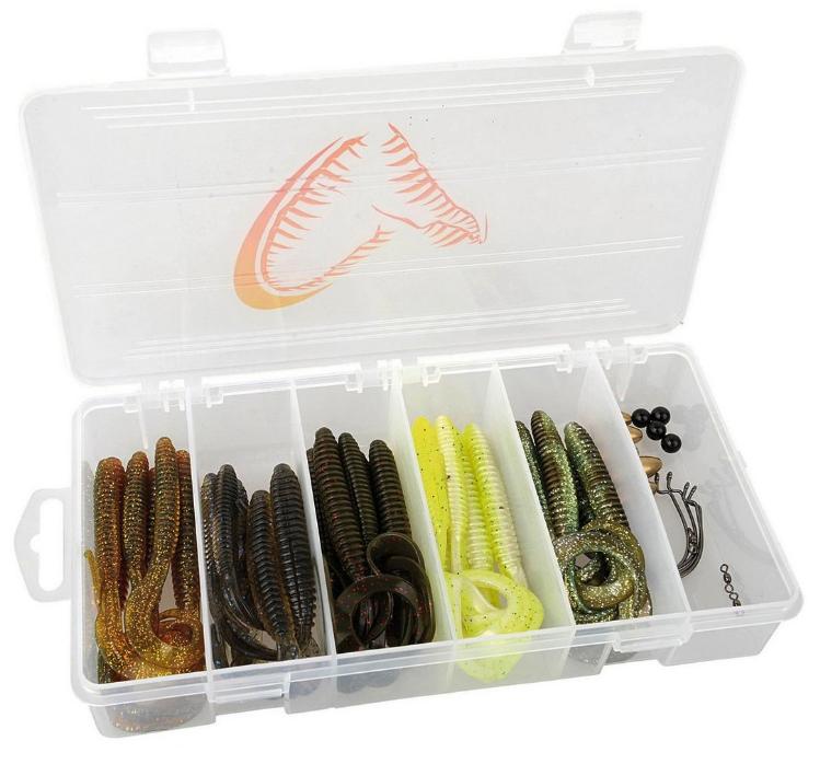 Savage Gear Rib Worm Kit, prêt pour vos bas de ligne Carolina et Texas