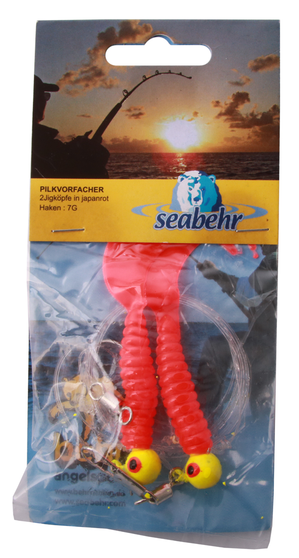 Seabehr Jighead Pilk System (choix entre 2 options) - Red/Red
