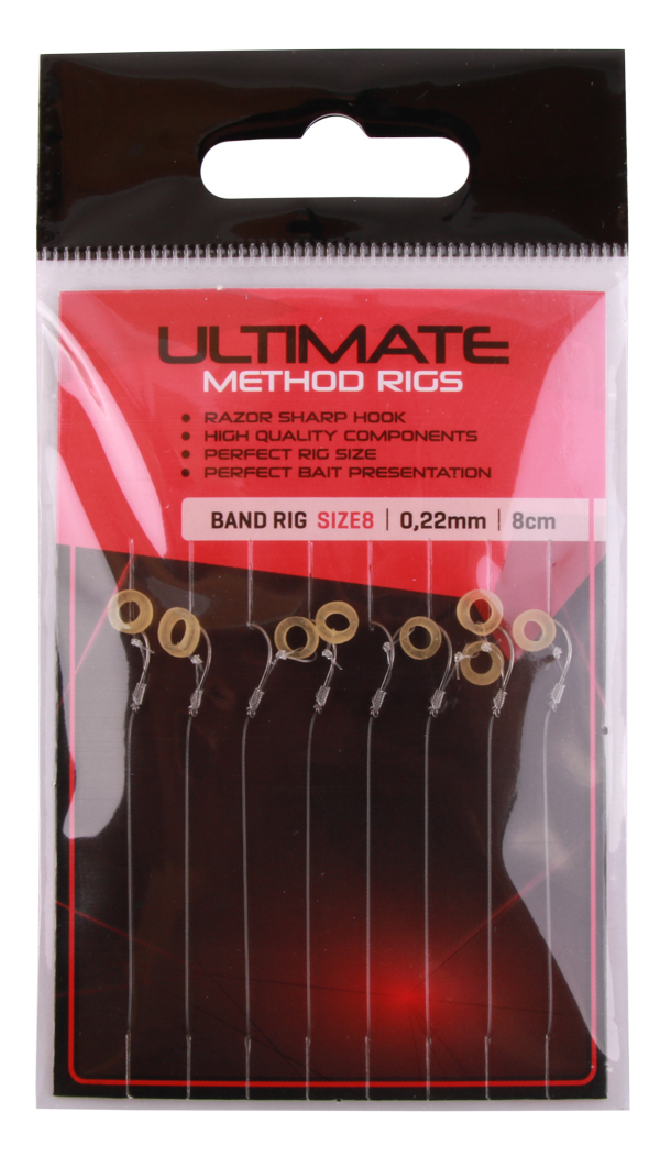 Ultimate Method Hair Baitband Rigs, 8 pièces (choix entre 3 options)