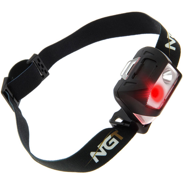 NGT Bivvy Light Large + NGT Dynamic Cree Frontale - NGT Dynamic Cree Light - USB Rechargable (200 Lumens)
