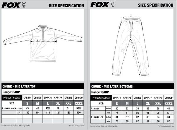 Fox Chunk Mid Layer Comfort Set L