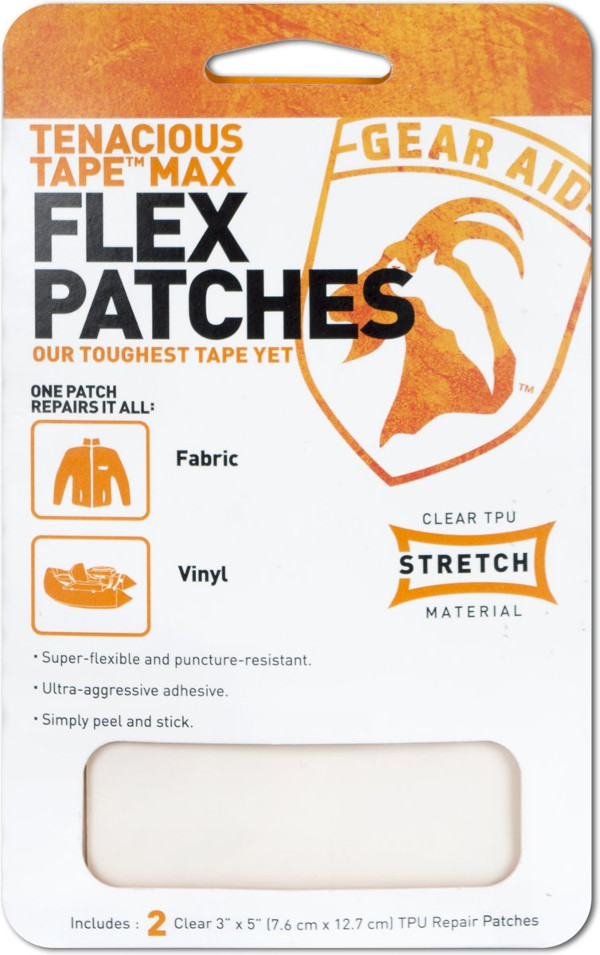 Gear Aid McNett Max Flex Patches, pour réparer des tissus et vinyle ! (2 pièces)