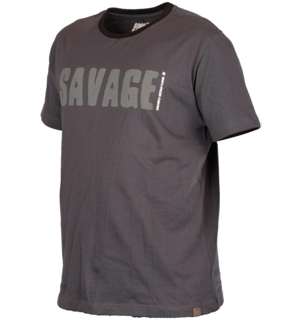 Savage Gear Simply Savage Tee Taille S jusqu'à XXL (choix entre 2 couleurs) - Grey