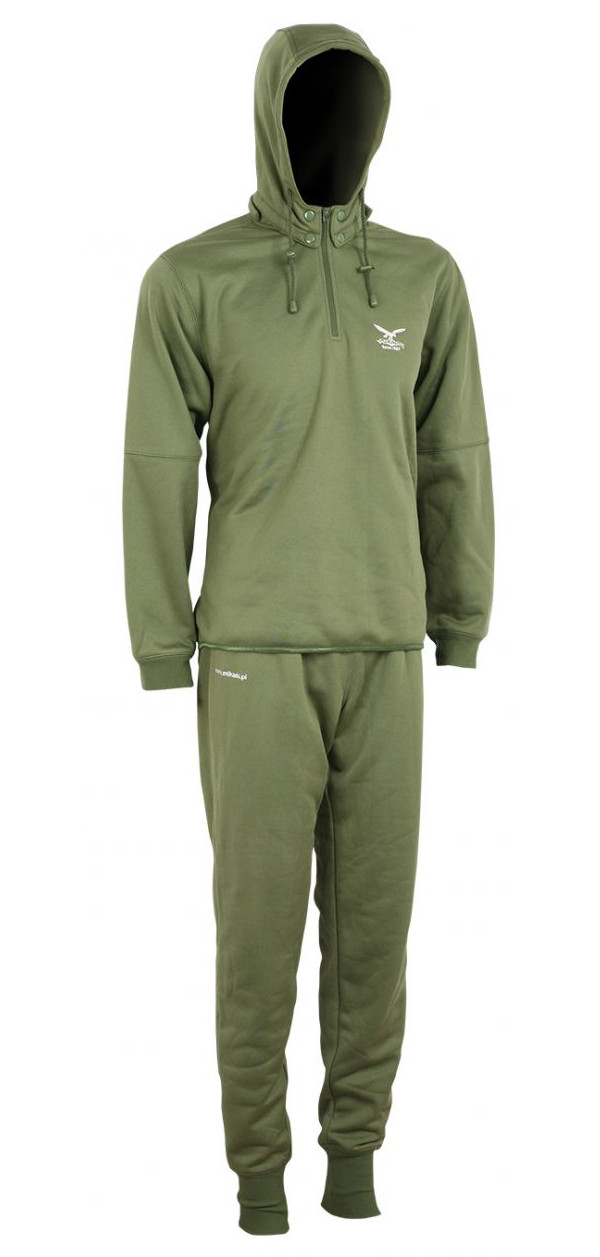 Mikado Thermo Hoody Set Green (choix entre les tailles M jusqu'à XXXL)