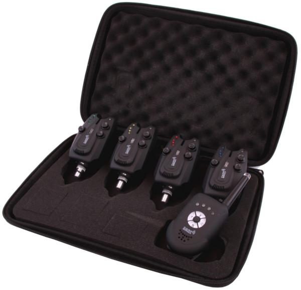 Carp Sonar E-Tension Ensemble Détecteurs + Télécommande (choix entre 2, 3 ou 4 détecteurs) - Attention ! Les photos ont été prise de l'ensemble 4+1. Vous avez le choix entre 2, 3 ou 4 détecteurs de touches avec télécommande.
