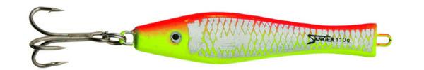 Aquantic 3D Holo Pilker 400 gr (choix entre 5 options) - Red / Yellow