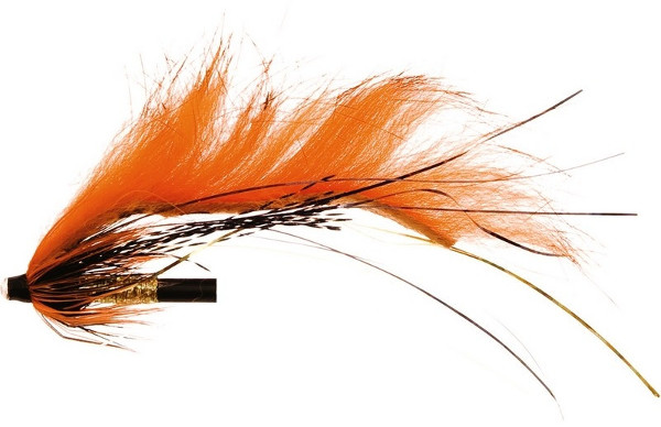 Unique Flies Jetstream Zonker, tubefly pour la pêche des carnassiers ! - Dirty Orange Tiger
