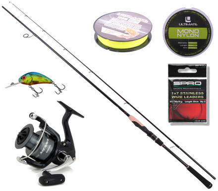 Ensemble Spinning Deluxe avec Canne Ultimate Spin & Jig, Moulinet Shimano et plus ! (choix entre 3 options)