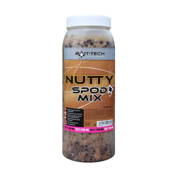 Bait-Tech Cooked Seed Mix Jar 2,5l - Nutty Spod Mix