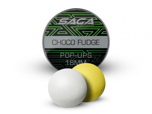 Saga Chocolate Fudge Bucket Deal Complete - Saga Premium Pop Ups 18mm, Chocolate Fudge