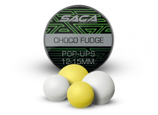 Saga Chocolate Fudge Bucket Deal Complete - Saga Premium Pop Ups 12 & 15mm, Chocolate Fudge