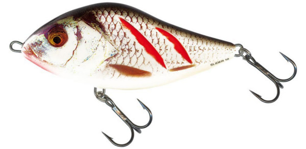 Salmo Slider 6 cm Floating (choix entre 5 options) - Wounded Real Grey Shiner (WGS)