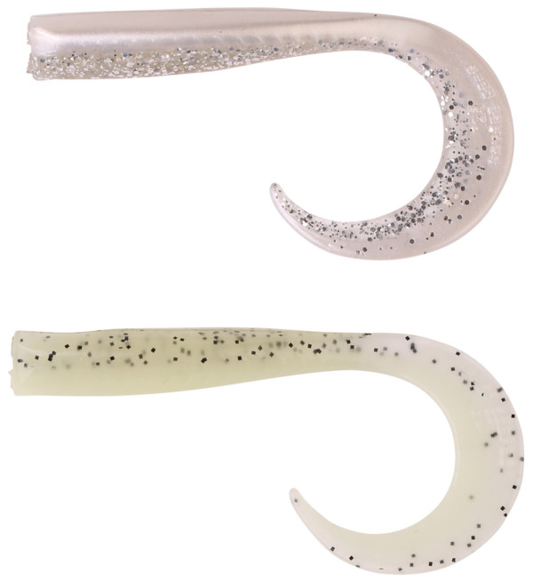 Savage Gear Sandeel Curltails (choix entre 12 options) - Boven: Pearlsilver