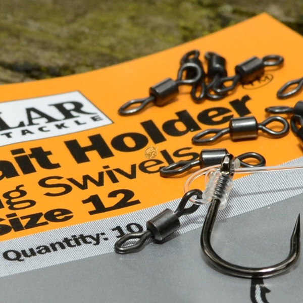 Solar Bait Holder Rig Swivels Taille 12, 10 pièces !