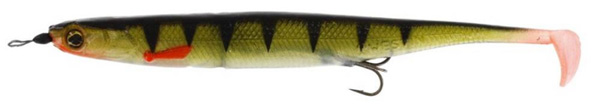 Westin KickTeez Shadtail 15 cm Rigged, 2 pièces - Striped Perch