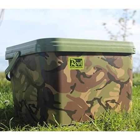 Rod Hutchinson Camo Square Bucket (10 L)