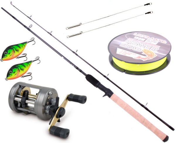 Ensemble Jerkbait avec Canne Ultimate & Moulinet Shimano