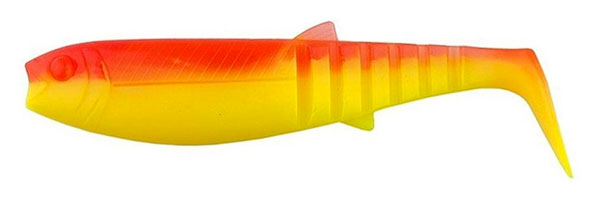 10x Savage Gear Cannibal Shad 12.5cm (choix entre 5 options) - YR Fluo