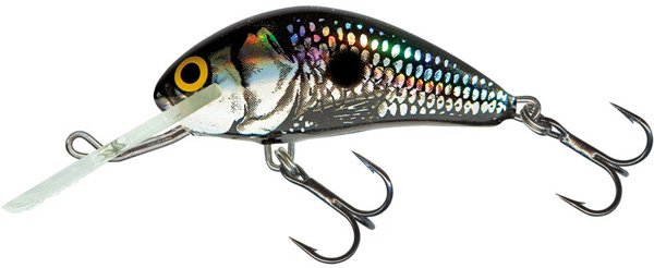 SUPERDEAL! Leurre Salmo Hornet 6cm Floating (9 options) - Black Silver Shad (BSS)