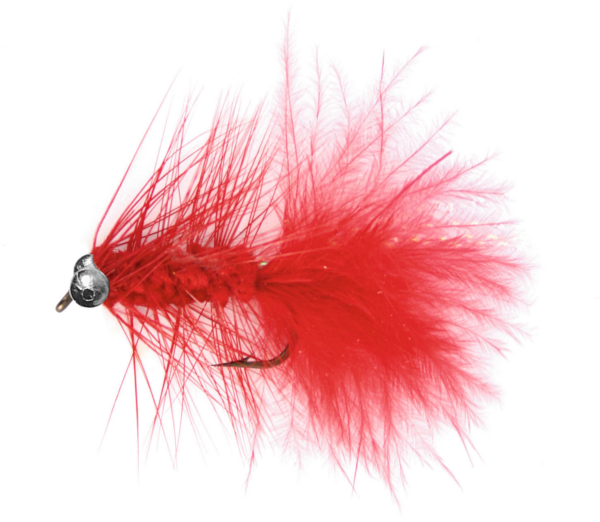 Magic Trout Mouches - Quiver Red