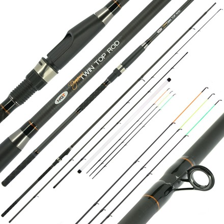 NGT Dynamic Twin Tip, feeder + match-/canne bouchon en 1!