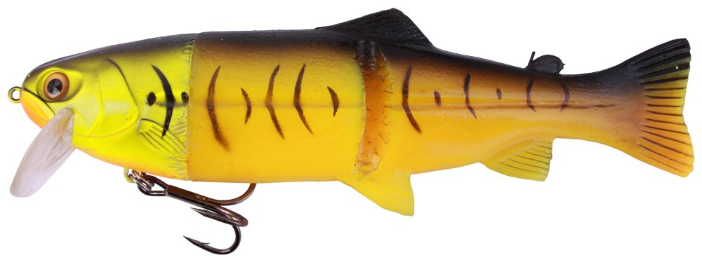 "Castaic Hard Head Real Bait 9"" Floating - Firetiger"