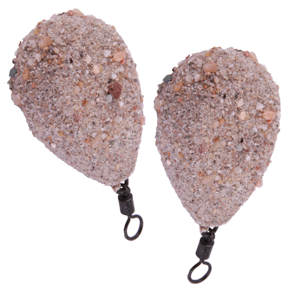 Ultimate Camo Lead Flat Pear Swivel SAND - 2 pièces