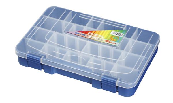Panaro Boîte de pêche bleue avec couvercle transparent (choix entre 3 options)