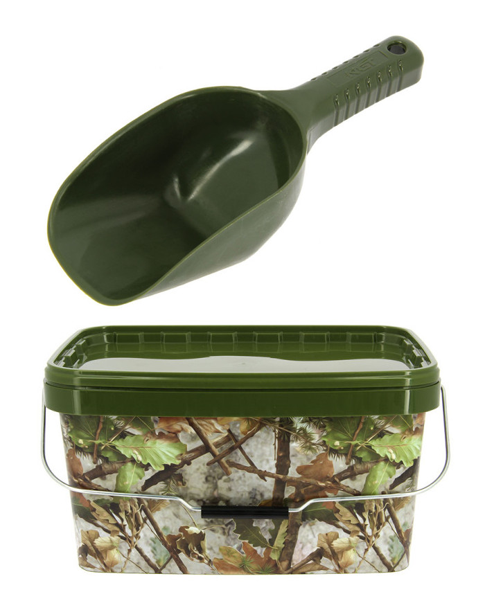NGT Camo Bucket + Baiting Spoon