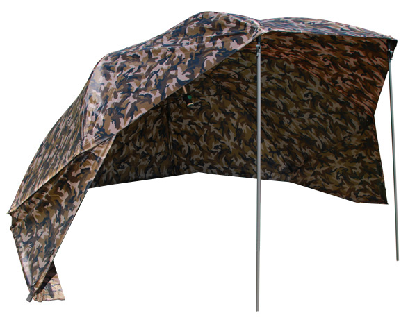 "Ultimate Camo Brolly 50"" + Bivvy Table + Frontale"
