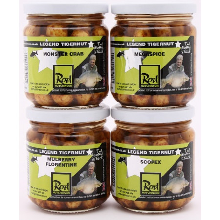 Rod Hutchinson Tigernuts Flavoured Hookbaits (choix entre plusieurs options) - Monster Crab (Brown)