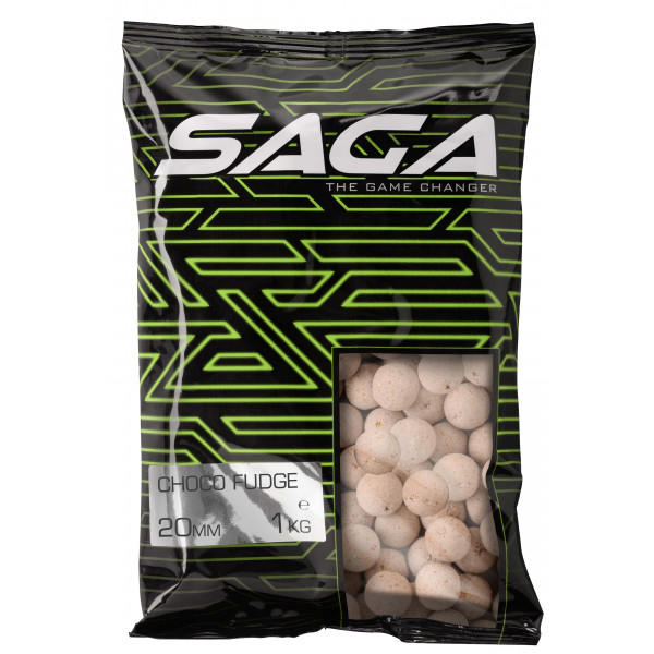 Saga Chocolate Fudge Bucket Deal Complete - Saga Premium Boilies 20mm, Chocolate Fudge